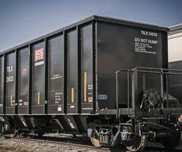railcar on tracks